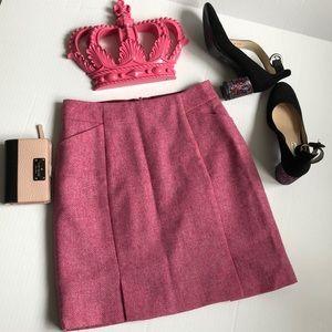 Boden Moon British Tweed Herringbone Wool Skirt